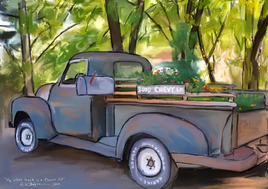 My Other Truck's A Flowerpot by Michael Hodgson