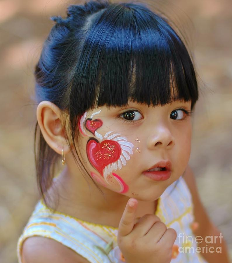 Child Photograph - My Painted Face by Kathleen Struckle