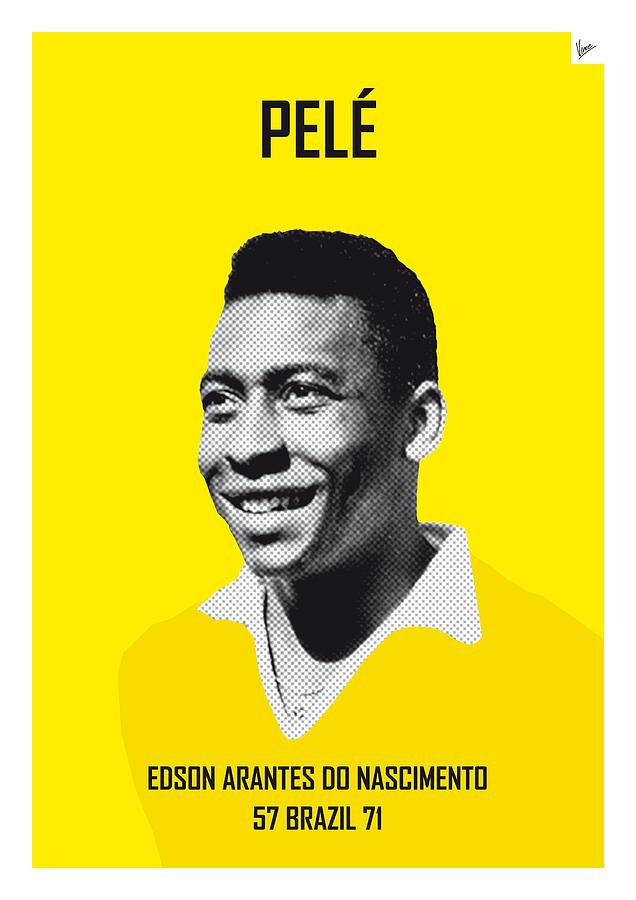 Beckenbauer Digital Art - My Pele Soccer Legend Poster by Chungkong Art