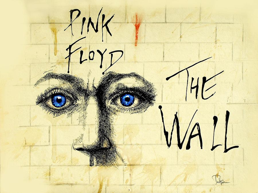 My Pink Floyd Wall Drawing by Todd Spaur