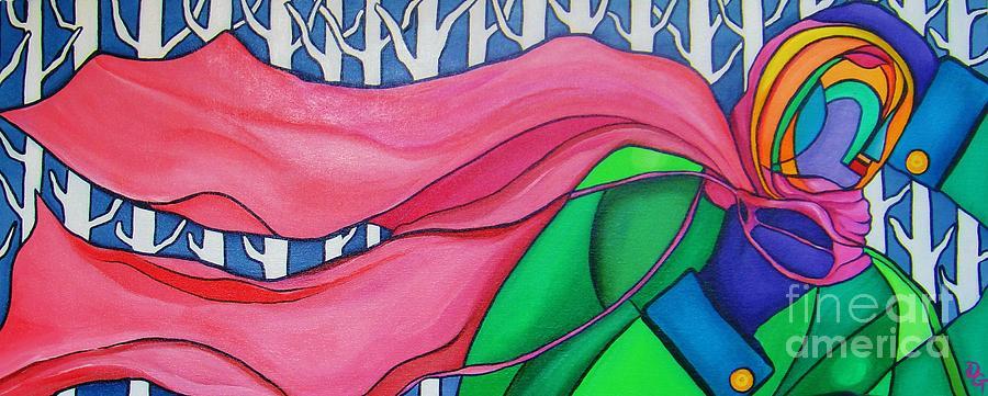 Pink Painting - My Pink Scarf by Deborah Glasgow