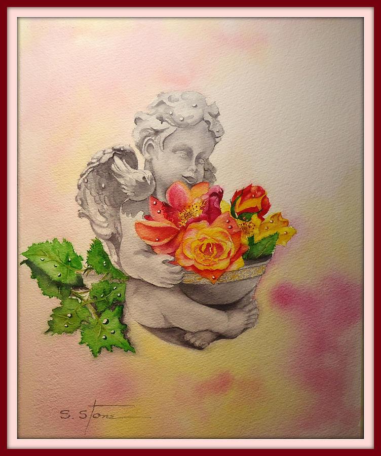 Angel Painting - My Precious Angel by Sandra Stone