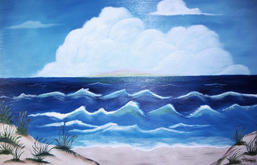 Ocean Painting - My Private Beach by Dwayne Barnes