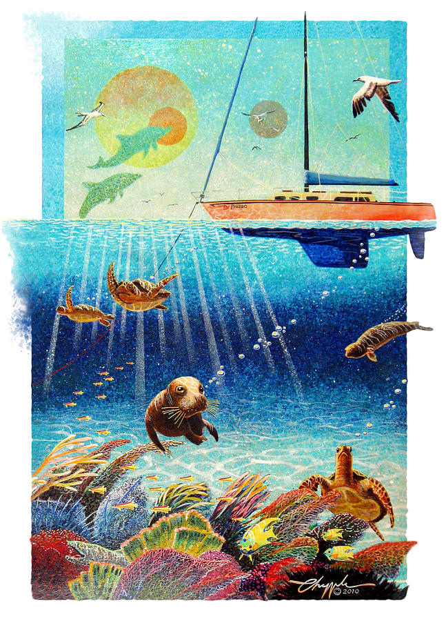 Animals Painting - My Prozac by David  Chapple