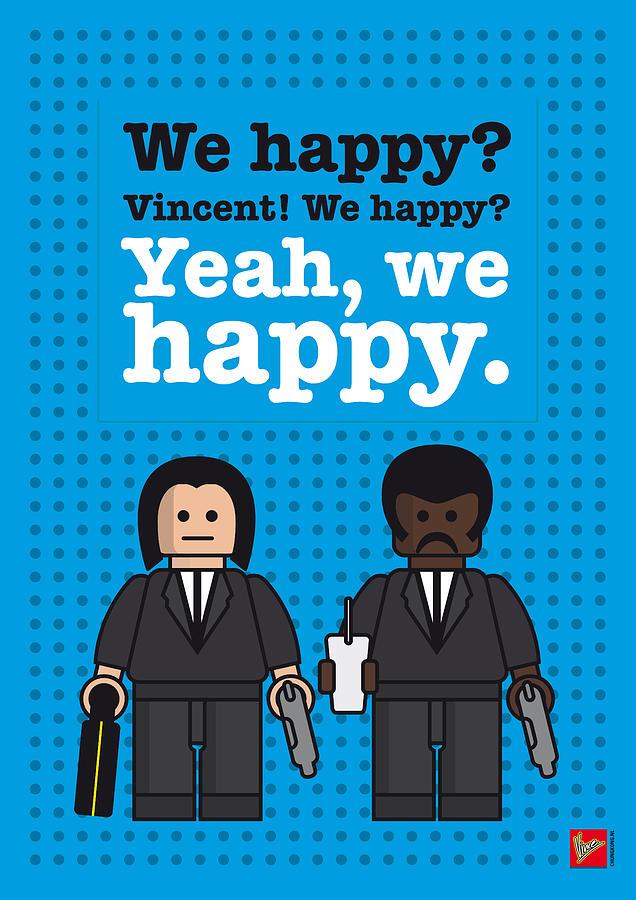 Pulp Digital Art - My Pulp Fiction Lego Dialogue Poster by Chungkong Art