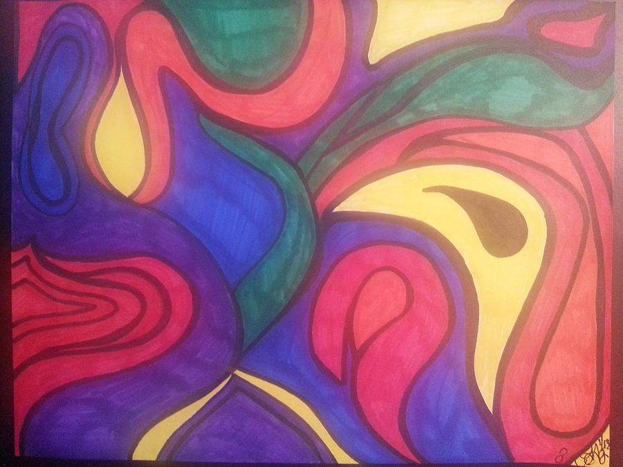 Drawing - My Rainbow by Felicia Anguiano