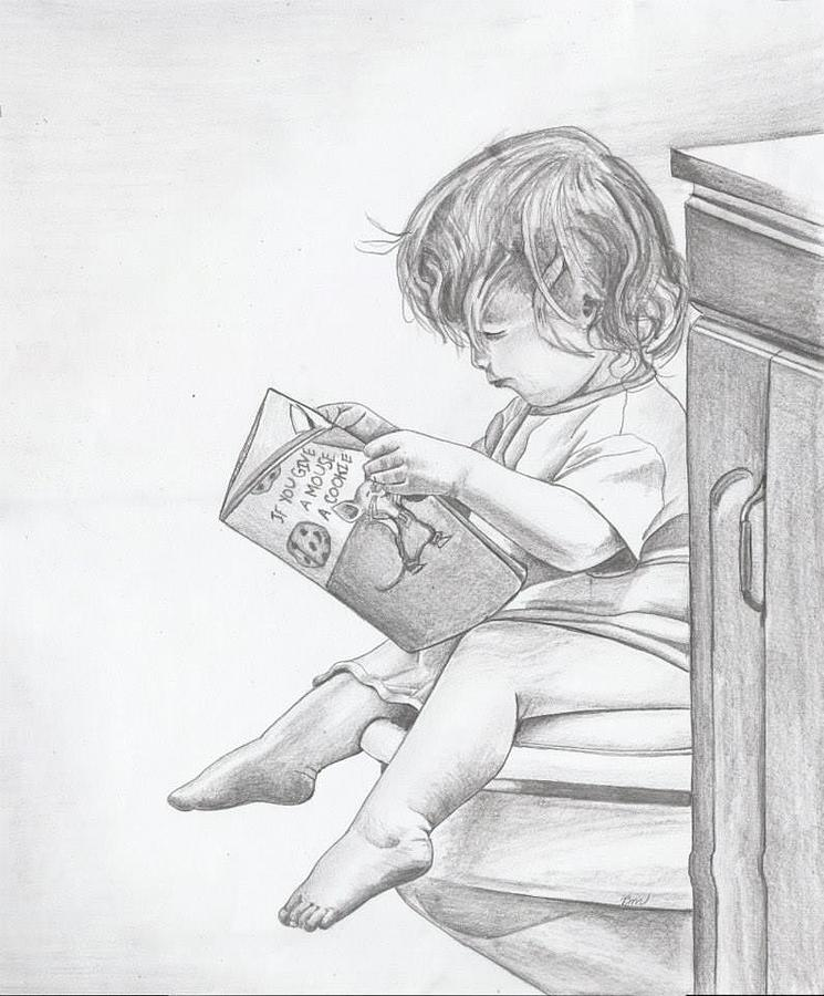 Baby Drawing - My Reading Chair by Beverly Marshall