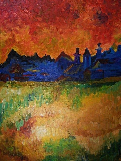Landscapes Painting - My Rendition Of Vincent Vg.  by Kendra Sorum