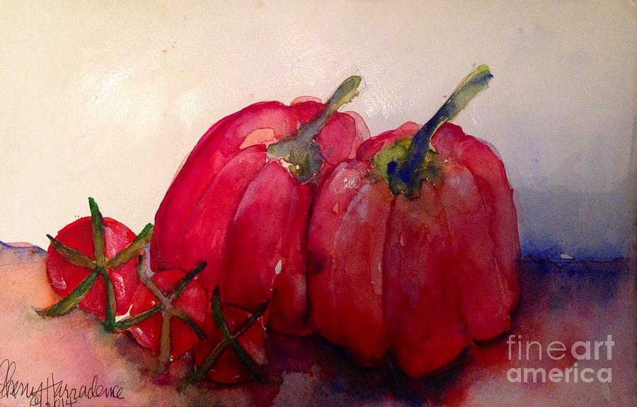 Fruit Painting - My Sexy Peppers by Sherry Harradence