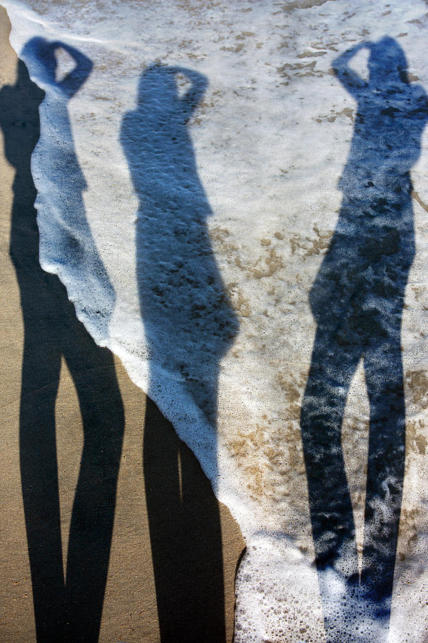Beach Photograph - My Shadow Follows Me by Betsy Knapp