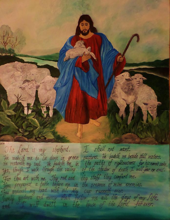Jesus Painting - My Shepherd by Christy Saunders Church
