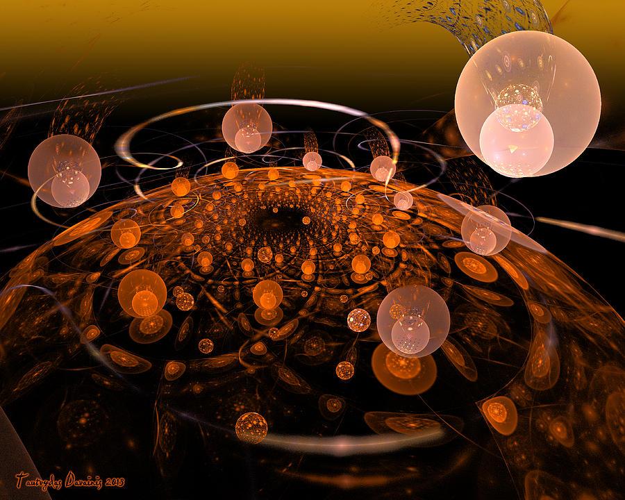 My Soul In The Quantum Fields. 2013 80/64 Cm.  Digital Art by Tautvydas Davainis
