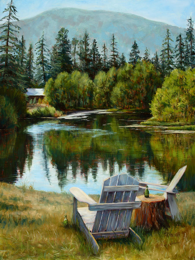 Adirondack Chair Painting - My Space by Mary Giacomini