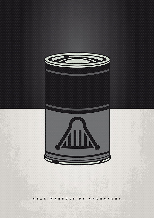 Star Digital Art - My Star Warhols Darth Vader Minimal Can Poster by Chungkong Art
