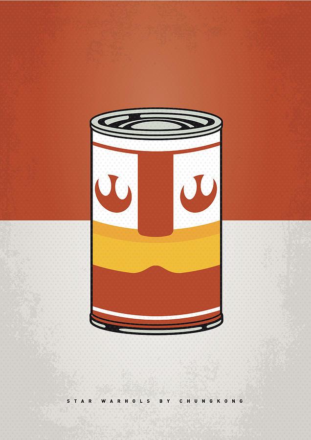 Star Digital Art - My Star Warhols Luke Skywalker Minimal Can Poster by Chungkong Art