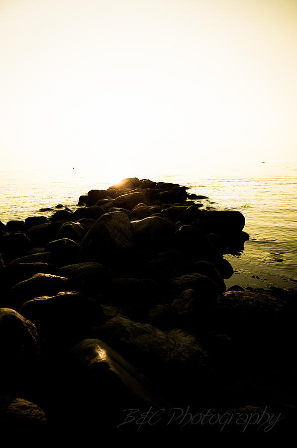 Stones Photograph - My Stepping Stones 2 by BandC  Photography