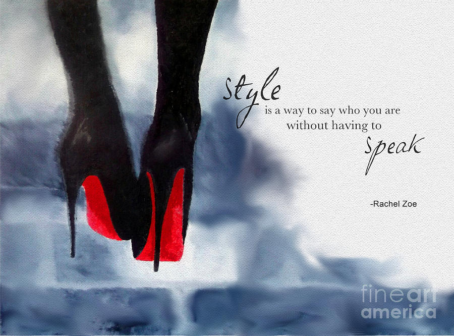 Christian Louboutin Mixed Media - My Style by My Inspiration
