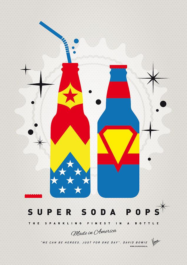 Superman Digital Art - My Super Soda Pops No-06 by Chungkong Art