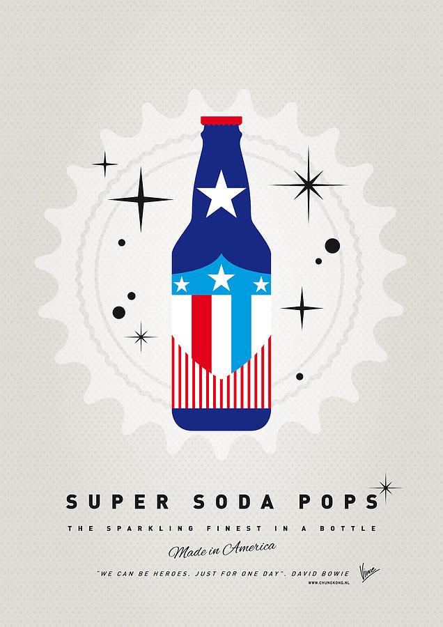 Captain America Digital Art - My Super Soda Pops No-14 by Chungkong Art