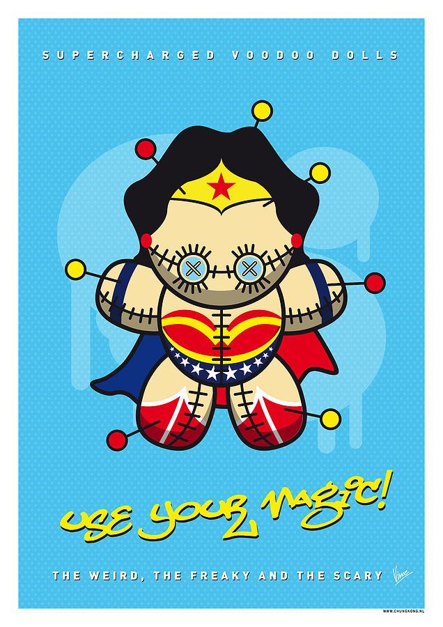 Voodoo Digital Art - My Supercharged Voodoo Dolls Wonder Woman by Chungkong Art