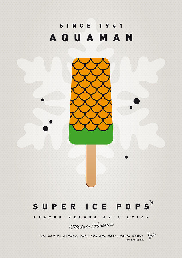 Superheroes Digital Art - My Superhero Ice Pop - Aquaman by Chungkong Art