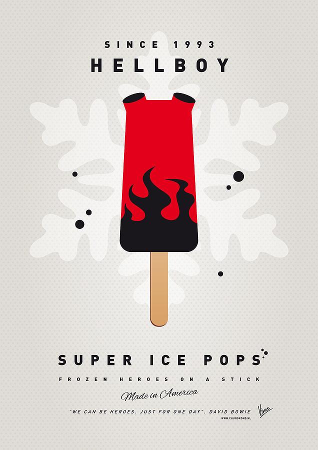 Superheroes Digital Art - My Superhero Ice Pop - Hellboy by Chungkong Art