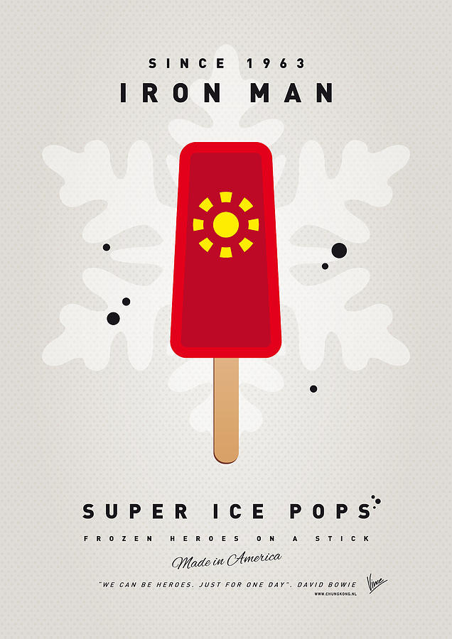 Superheroes Digital Art - My Superhero Ice Pop - Iron Man by Chungkong Art