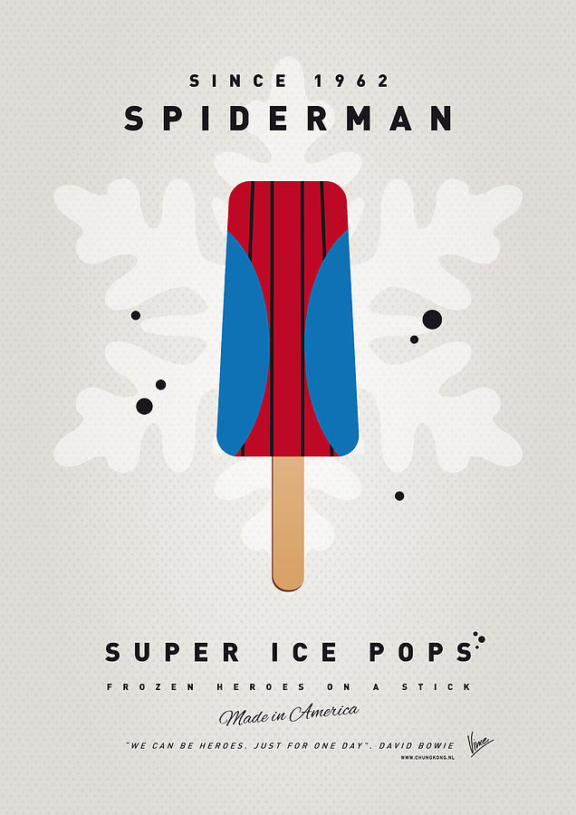 Superheroes Digital Art - My Superhero Ice Pop - Spiderman by Chungkong Art