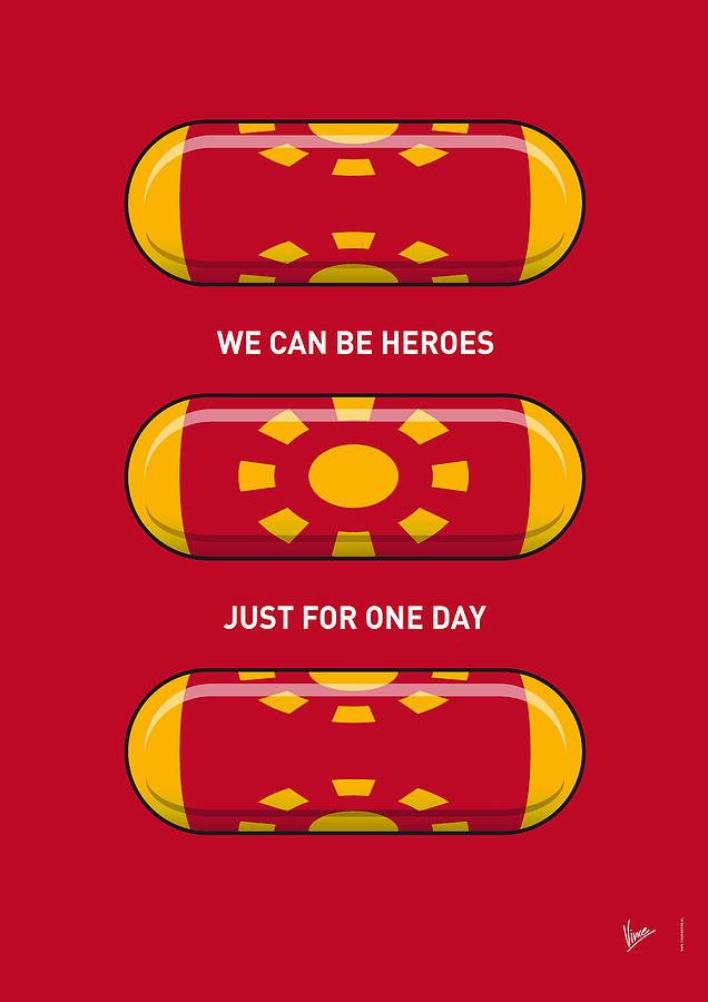 Superheroes Digital Art - My Superhero Pills - Iron Man by Chungkong Art