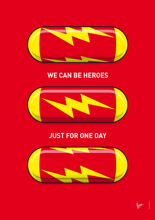 Superheroes Digital Art - My Superhero Pills - The Flash by Chungkong Art