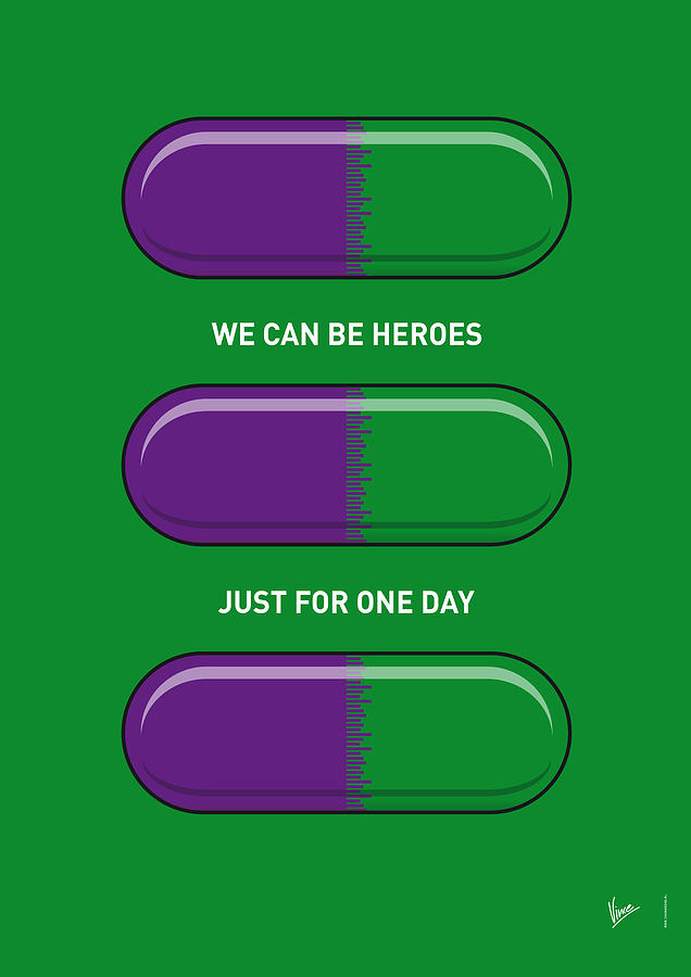 Superheroes Digital Art - My Superhero Pills - The Hulk by Chungkong Art