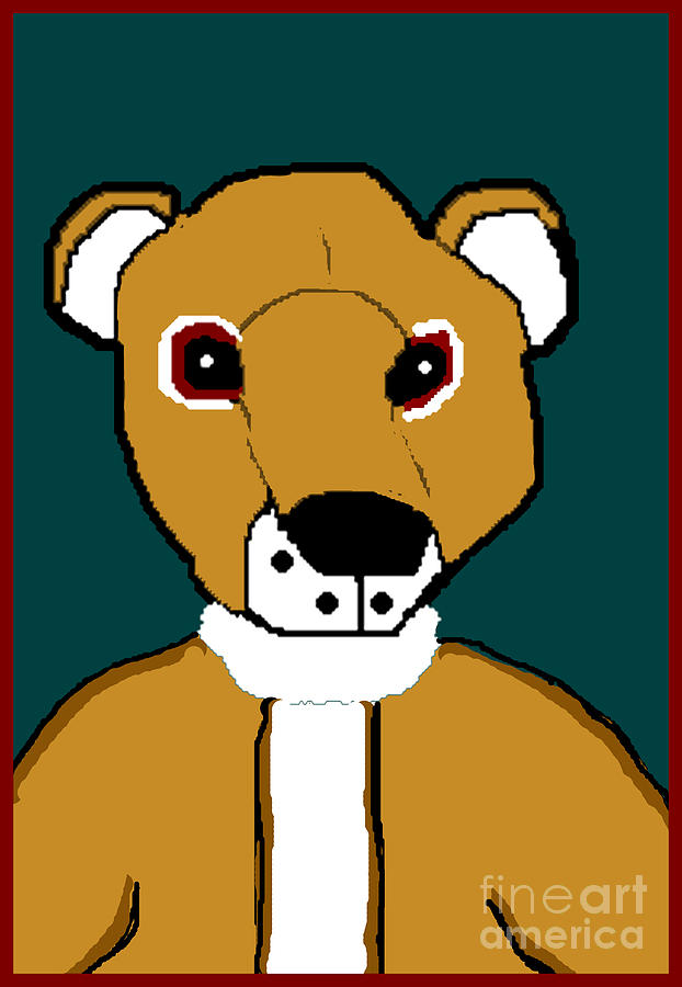 Teddy Bear Digital Art - My Teddy by Meenal C