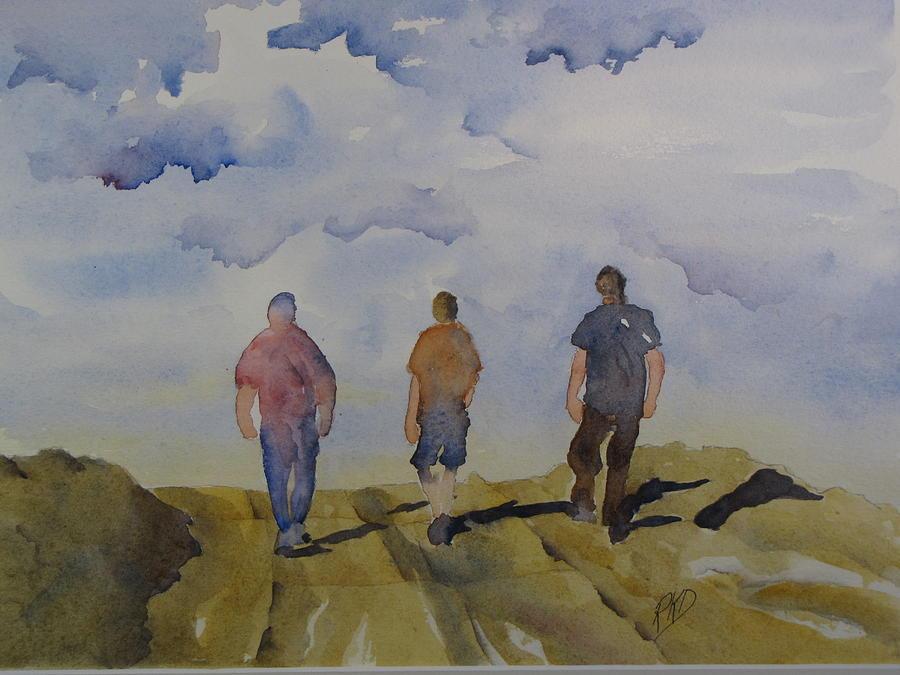 Landscape Painting - My Three Boys by Ramona Kraemer-Dobson