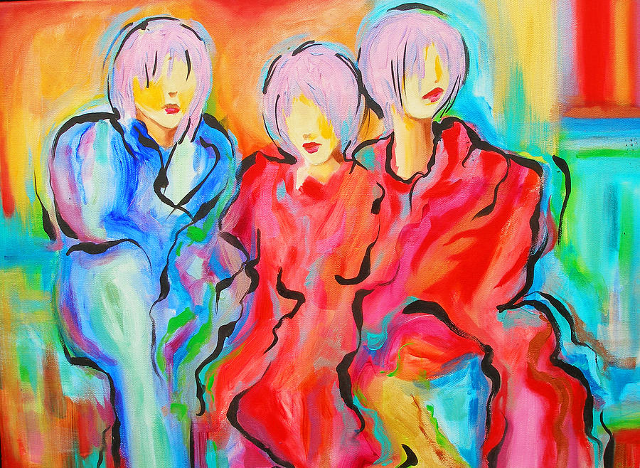 Figures Painting - My Three Muses by Susi Franco