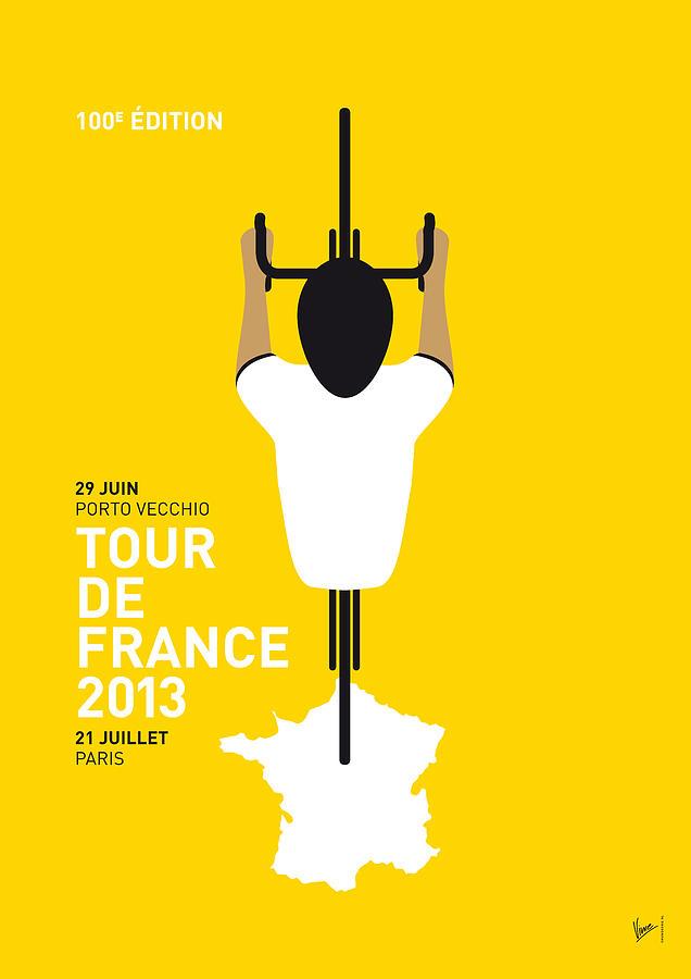 Cycling Digital Art - My Tour De France Minimal Poster by Chungkong Art