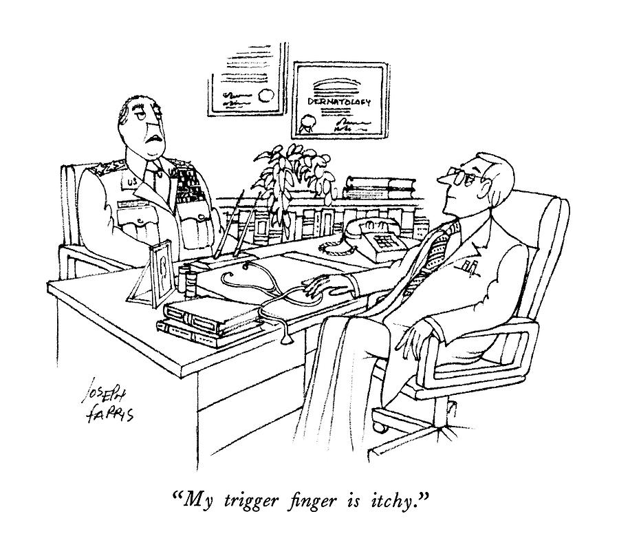 My Trigger Finger Is Itchy Drawing by Joseph Farris