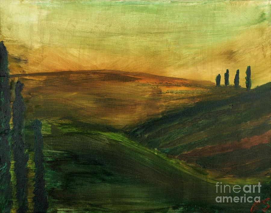 Tuscany Painting - My Tuscany  by Katy  Scott