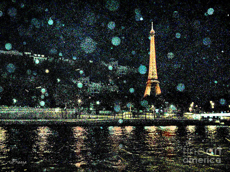 My Van Gogh Eiffel Tower Digital Art By Jennie Breeze