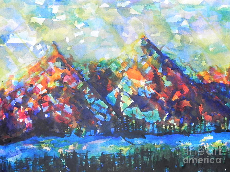 Watercolor Painting Painting - My Vision Say It Out Loud by Chrisann Ellis