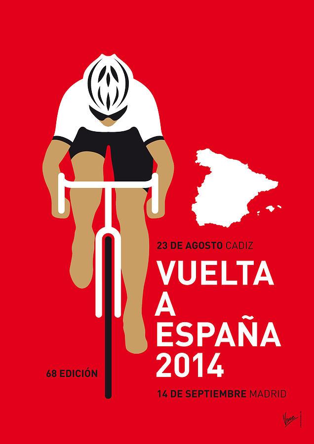 Minimal Digital Art - My Vuelta A Espana Minimal Poster 2014 by Chungkong Art