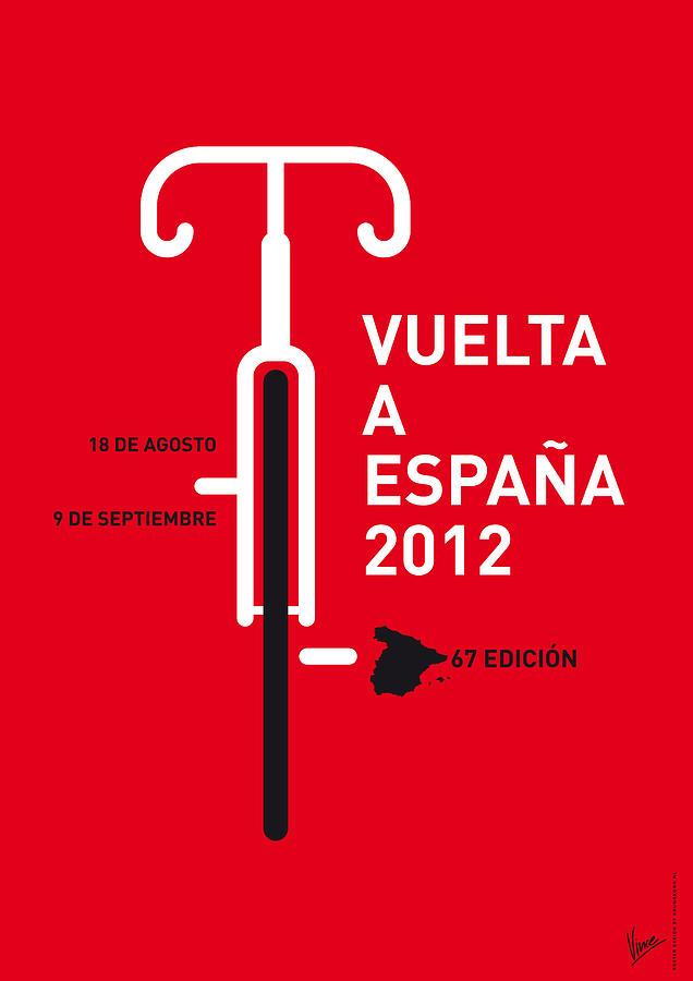 2012 Digital Art - My Vuelta A Espana Minimal Poster by Chungkong Art