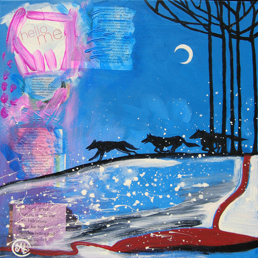 Wolf Painting - My Wildish Nature by Cat Athena Louise