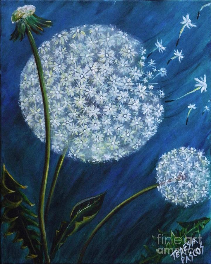 Make A Wish Dandelion Painting