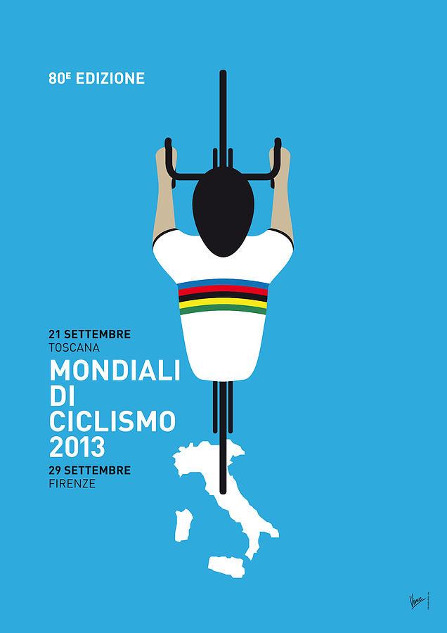 2013 Digital Art - My World Championships Minimal Poster by Chungkong Art