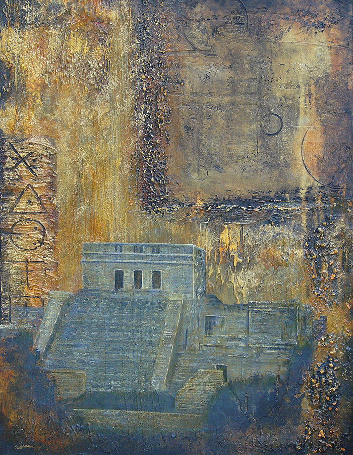 Mayan Painting - Myan Temple by Jeffrey Oldham