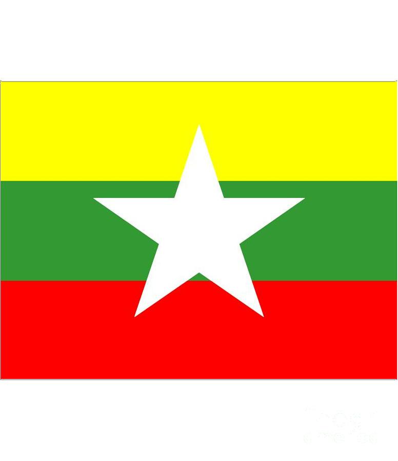 Myanmar Digital Art - Myanmar Flag by Frederick Holiday