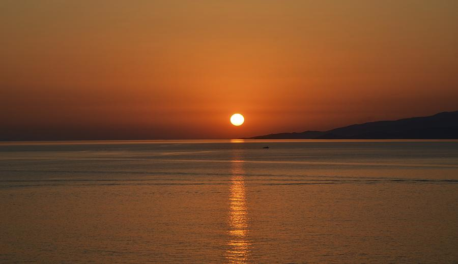 Sunset Photograph - Mykonos Sunset by Corinne Rhode
