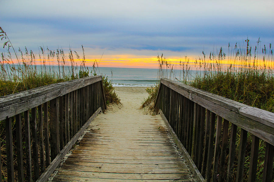 Myrtle Beach Morning Walk  Photograph by Donald Hovis Jr