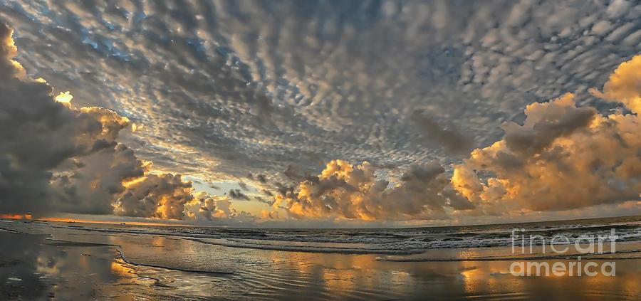 Sunrise Photograph - Myrtle Beach Panorama 2 by Jeff Breiman