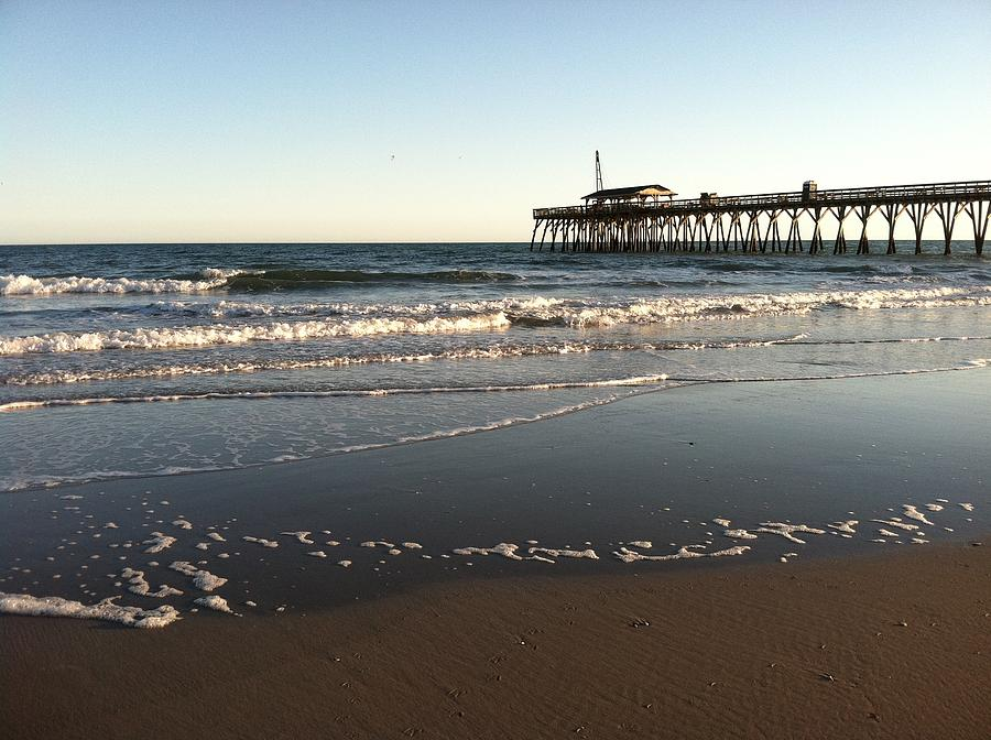 Myrtle Beach State Park Pier And Ocean Photograph by Kathy ...